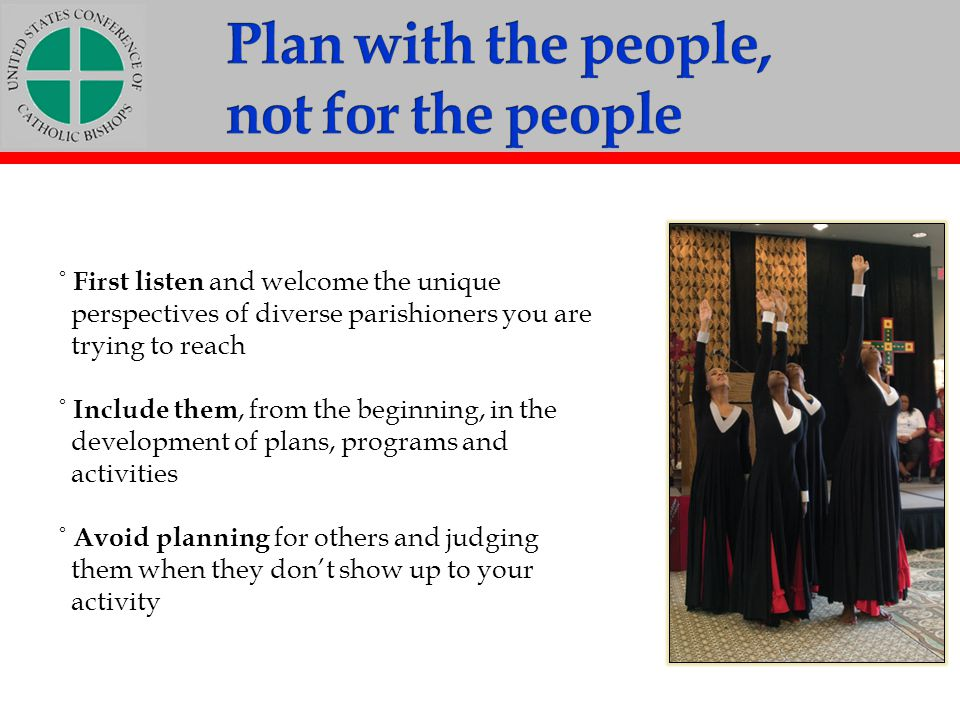 Plan with the people, not for the people
