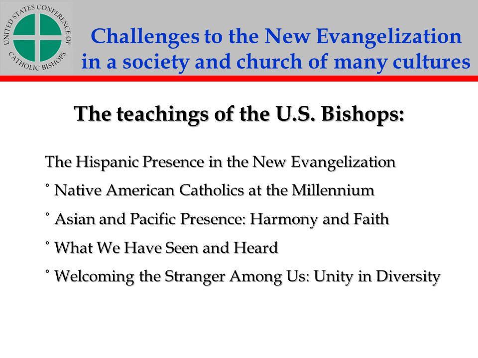 The teachings of the U.S. Bishops: