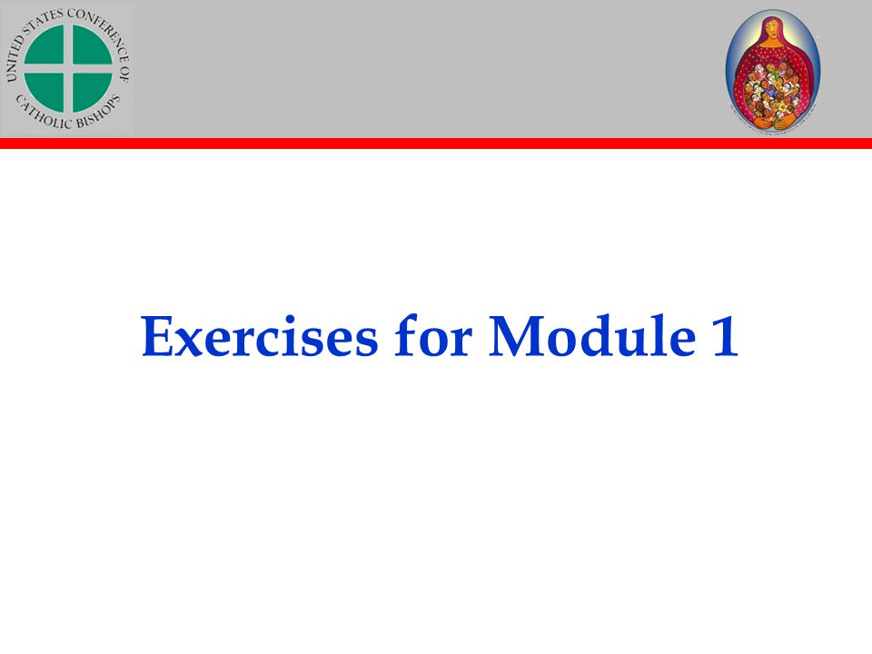 Exercises for Module 1