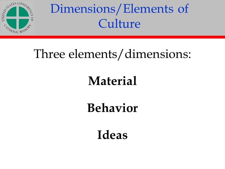 Dimensions/Elements of Culture