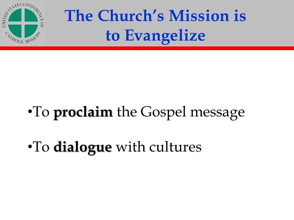 The Church's Mission is
