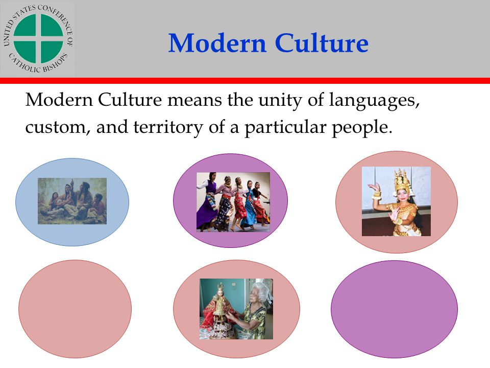 Modern Culture Modern Culture means the unity of languages,