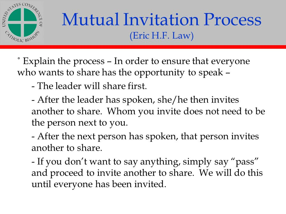 Mutual Invitation Process (Eric H.F. Law)