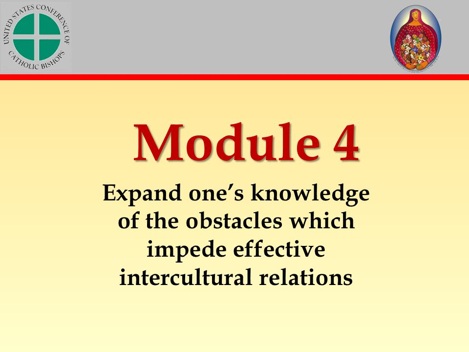 Module 4 Expand one's knowledge of the obstacles which impede effective intercultural relations