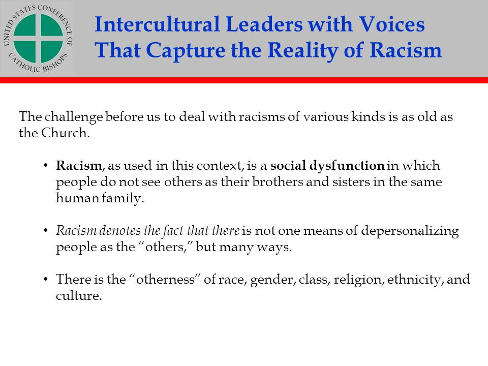 Intercultural Leaders with Voices That Capture the Reality of Racism