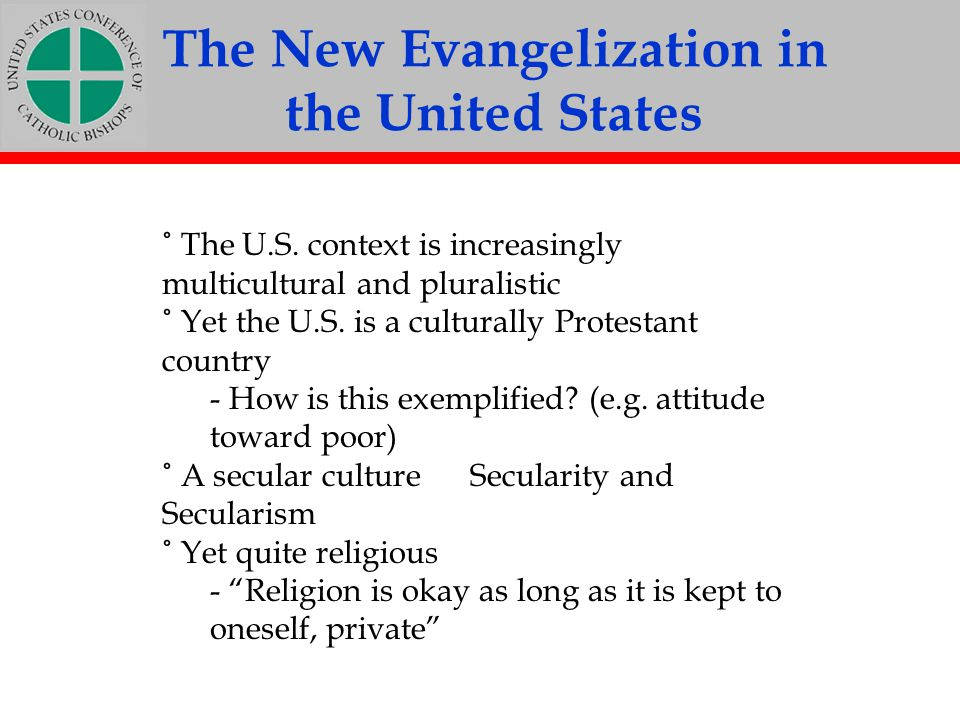 The New Evangelization in the United States