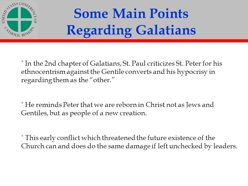 Some Main Points Regarding Galatians