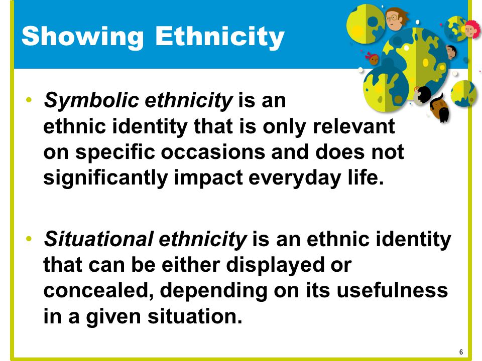 Showing Ethnicity