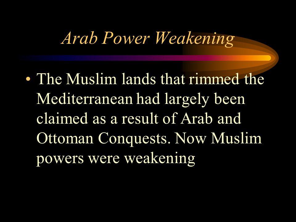 Arab Power Weakening