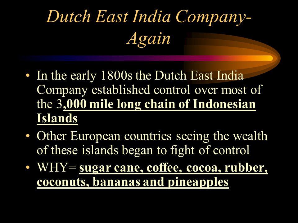 Dutch East India Company- Again