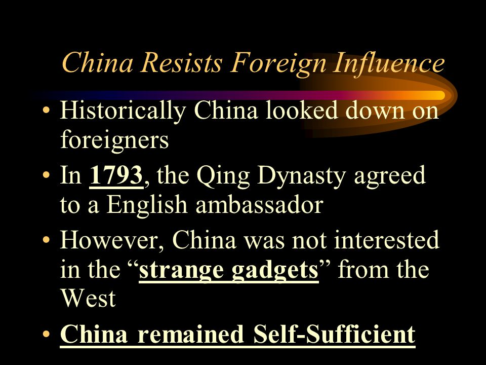 China Resists Foreign Influence