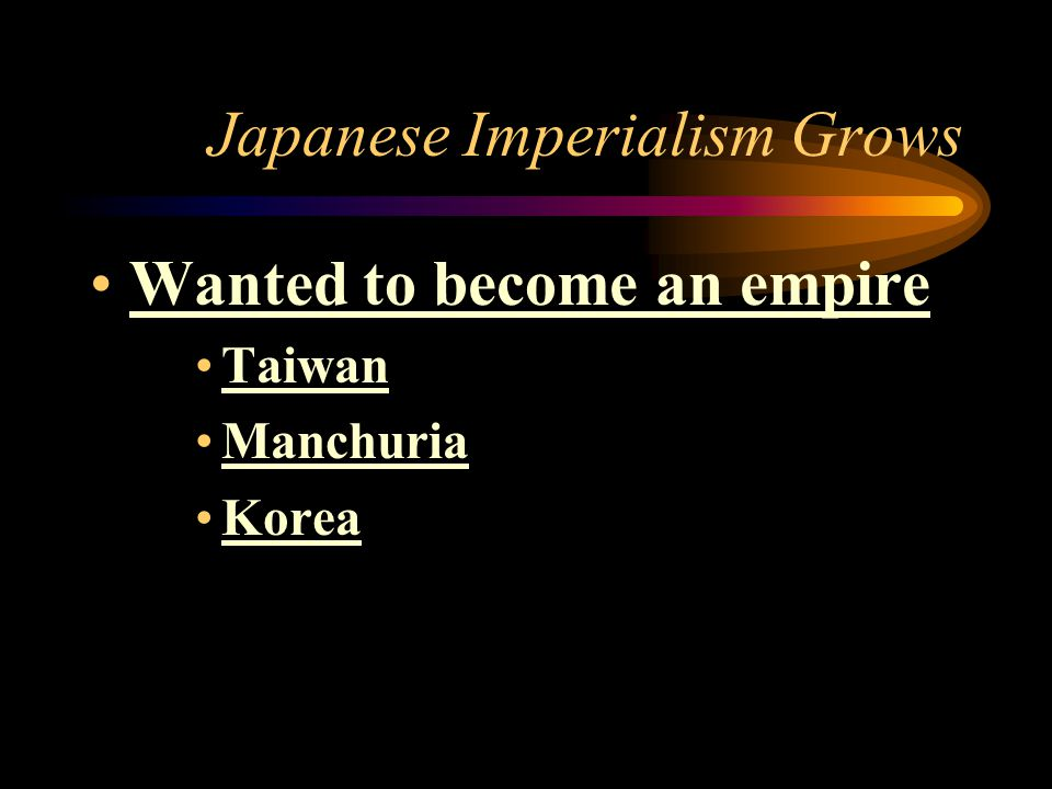 Japanese Imperialism Grows