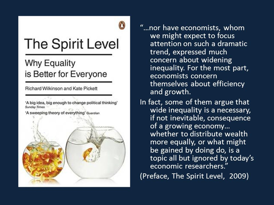 …nor have economists, whom we might expect to focus attention on such a dramatic trend, expressed much concern about widening inequality.