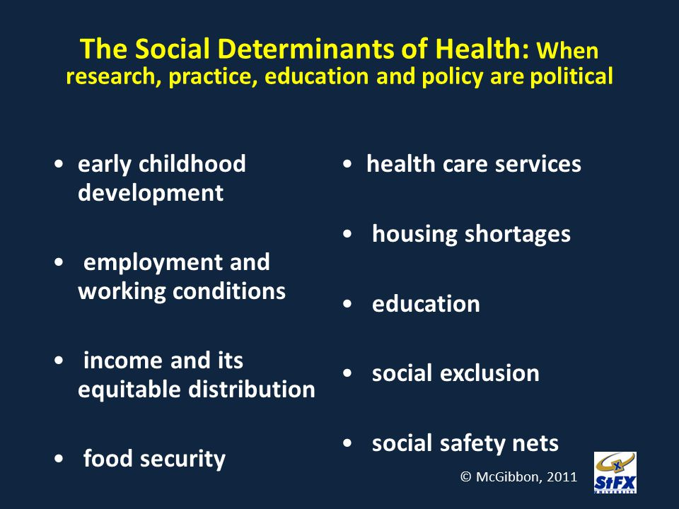 The Social Determinants of Health: When research, practice, education and policy are political