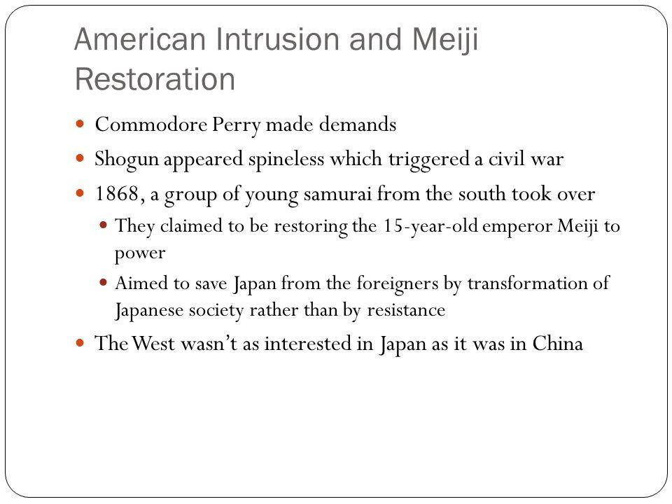 American Intrusion and Meiji Restoration