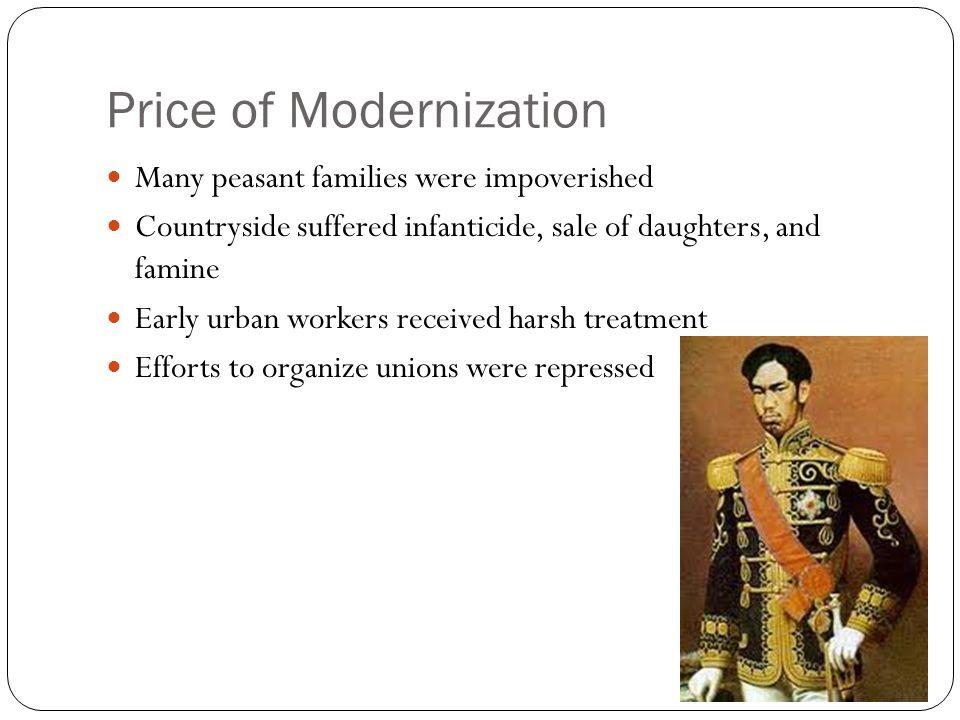 Price of Modernization