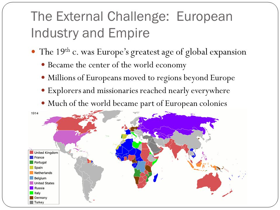 The External Challenge: European Industry and Empire
