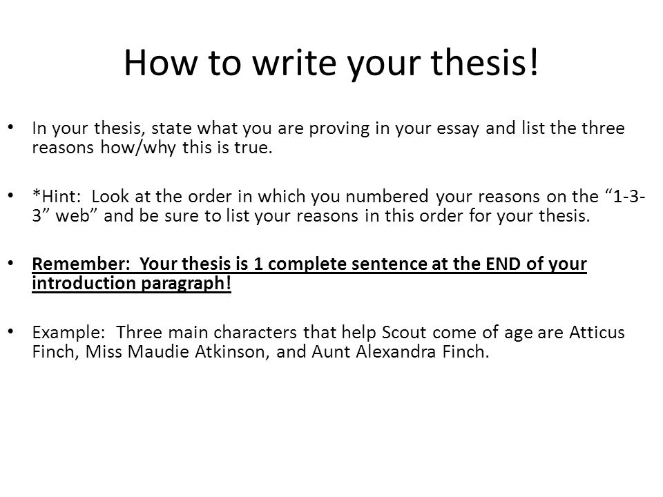 to kill a mockingbird literary analysis essay ppt video online  how to write your thesis