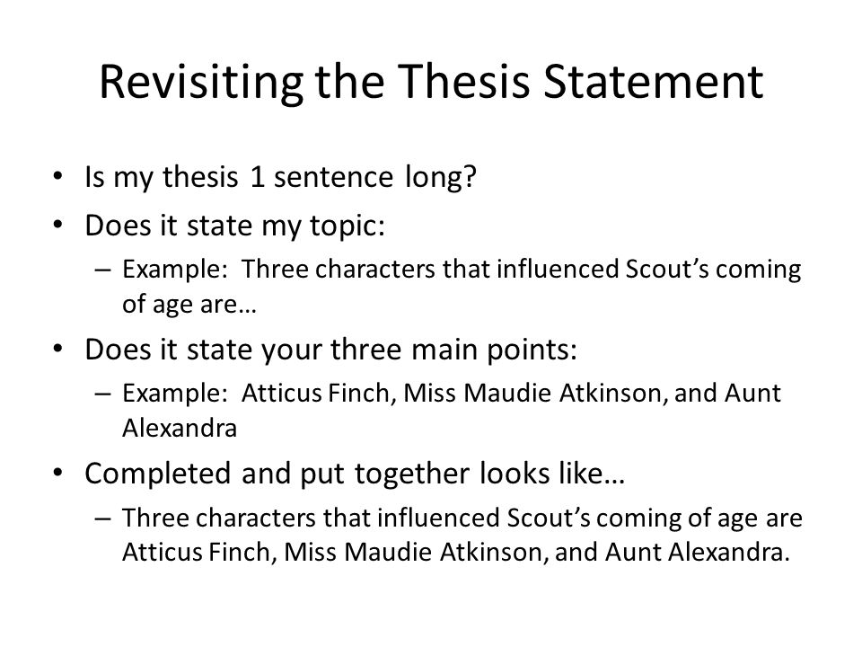 thesis statement where to put it