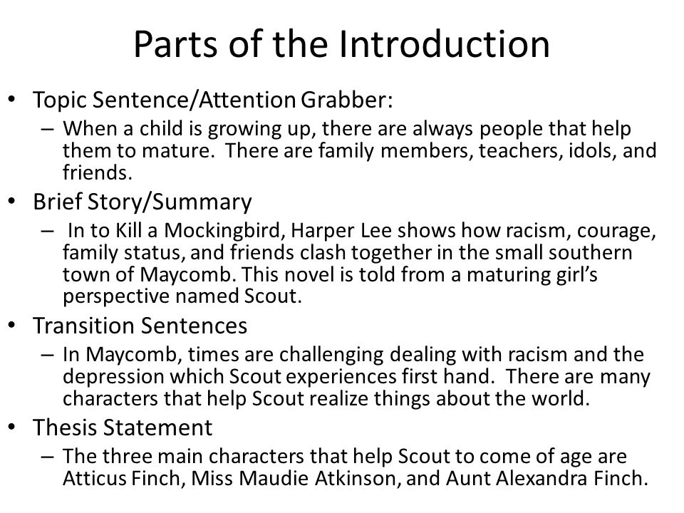 parts of the essay introduction Parts of an essay download pdf many  the first sentence of your introduction is called the hook that is exactly what it is supposed to do it should hook the .