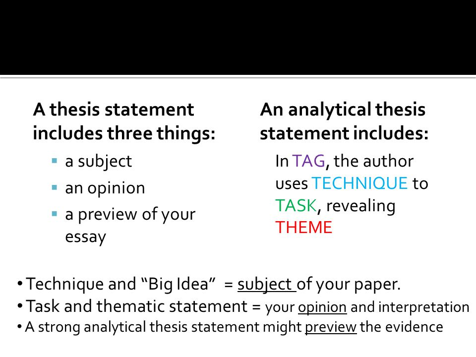 developing a thesis statement for an analytical essay How to develop a thesis statement for your term paper an analytical essay breaks down an a basic guide to developing a strong thesis statement is to.