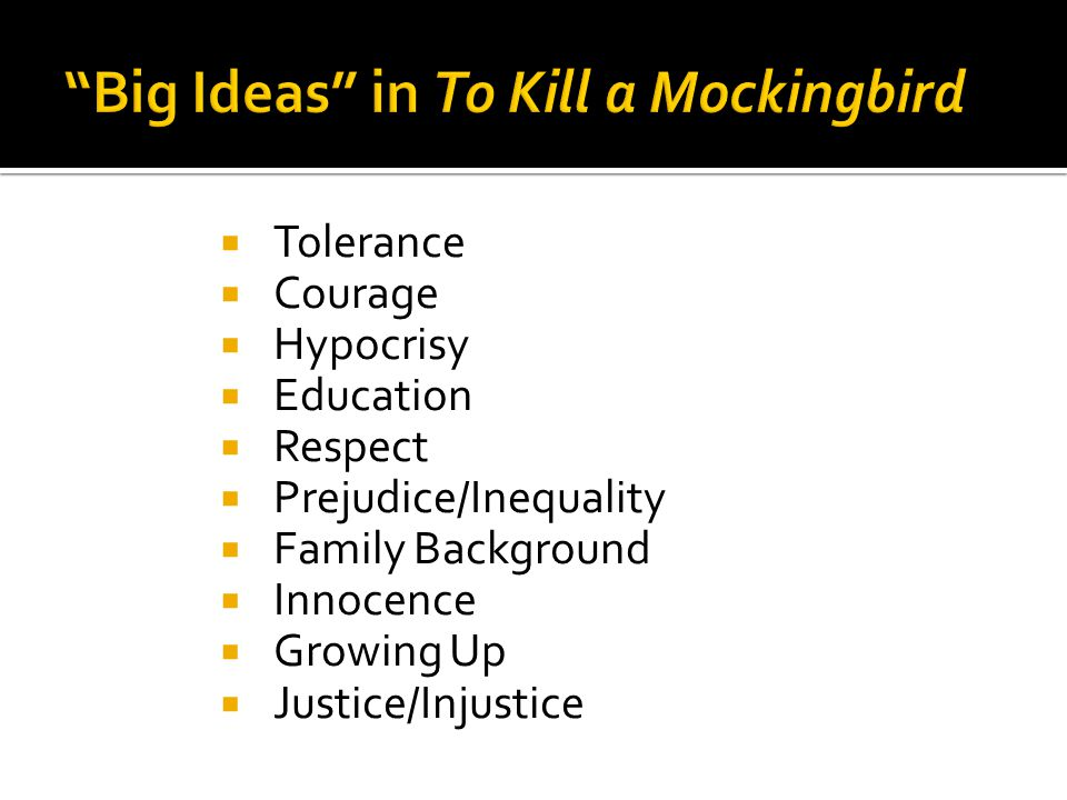 To Kill A Mockingbird Thesis Innocence