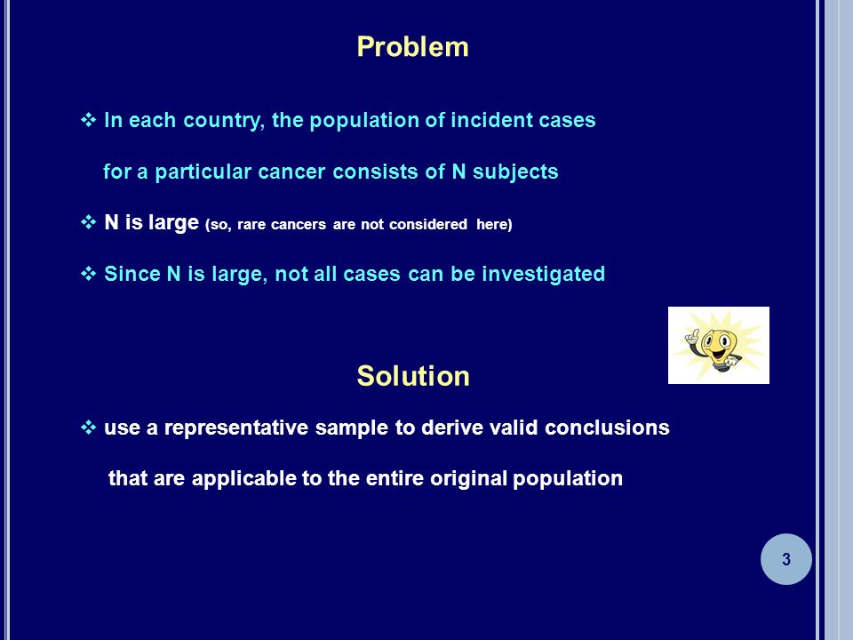 Problem Solution In each country, the population of incident cases