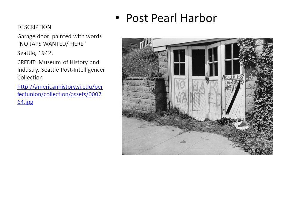 Post Pearl Harbor DESCRIPTION