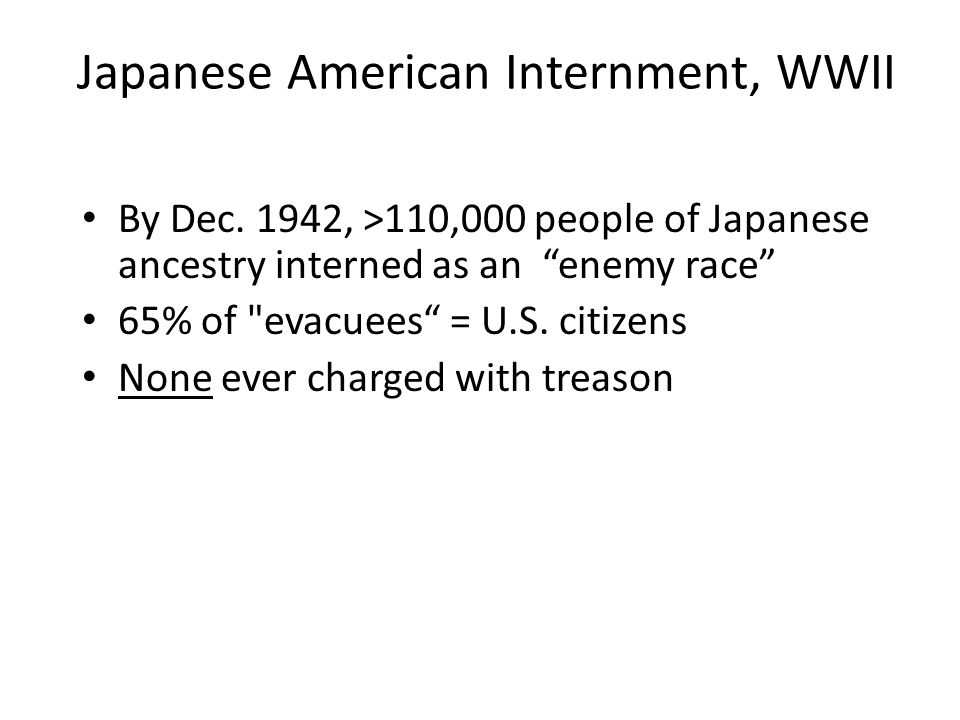 Japanese American Internment, WWII
