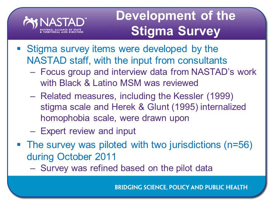 Development of the Stigma Survey