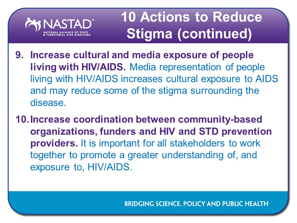 10 Actions to Reduce Stigma (continued)