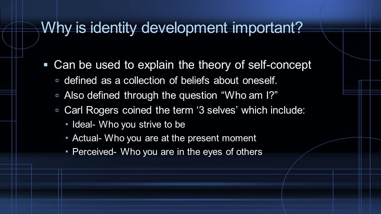 Why is identity development important