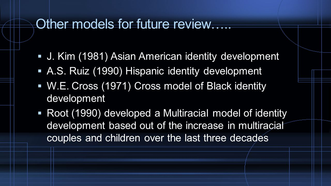 Other models for future review…..