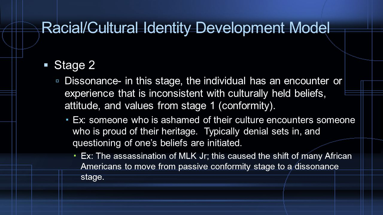 """identity development and cultural production in Perspective, cultural identity is a """"one, shared culture, a sort of collective 'one true self,' hiding inside the many  an individual is a socio-historical and socio-cultural product and identity is not biologically pre-given to a person, instead, he or she occupies it, and more  have an effect on the identity development."""