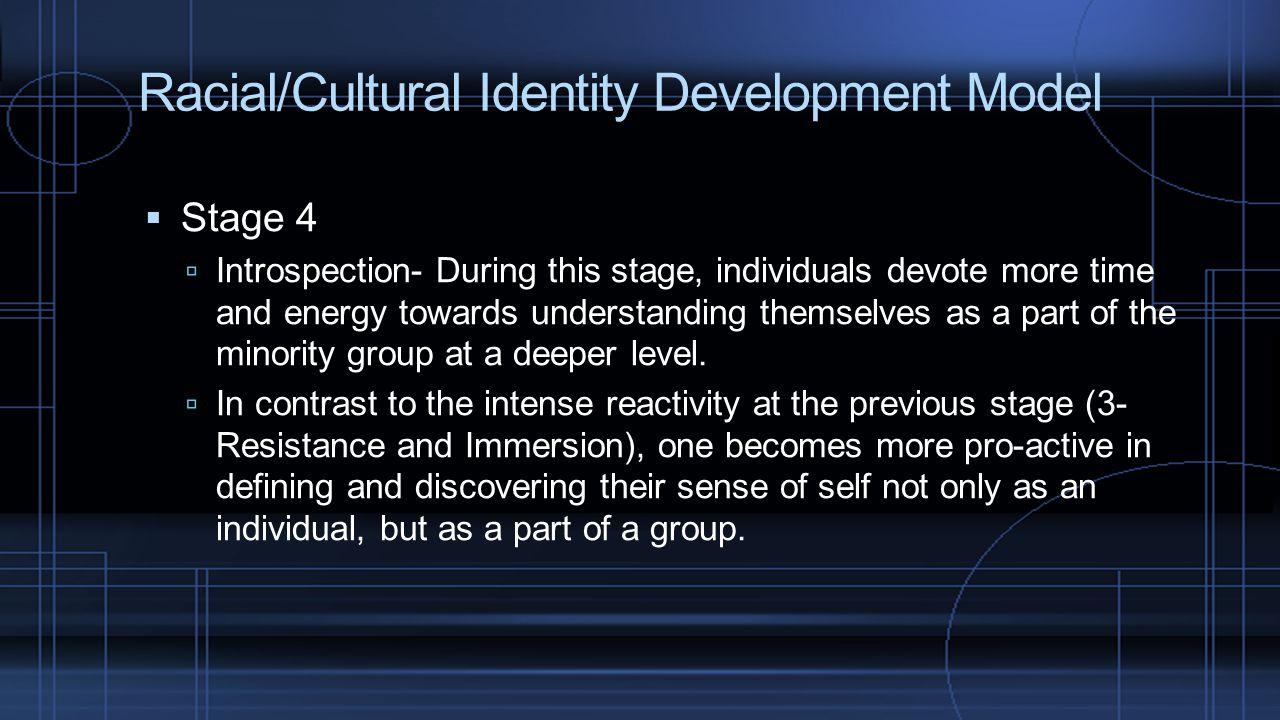 Racial/Cultural Identity Development Model
