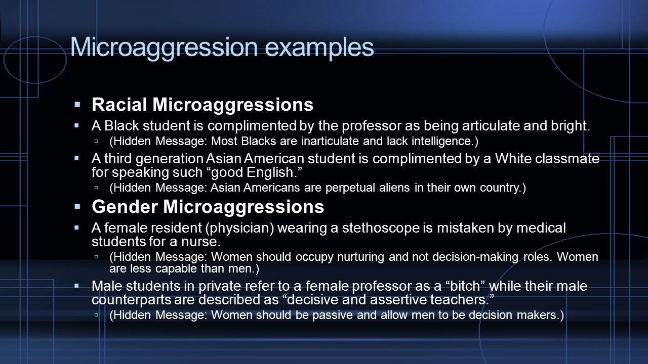 Microaggression examples