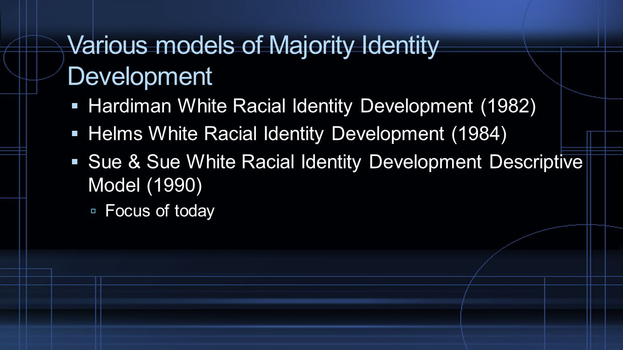 Various models of Majority Identity Development