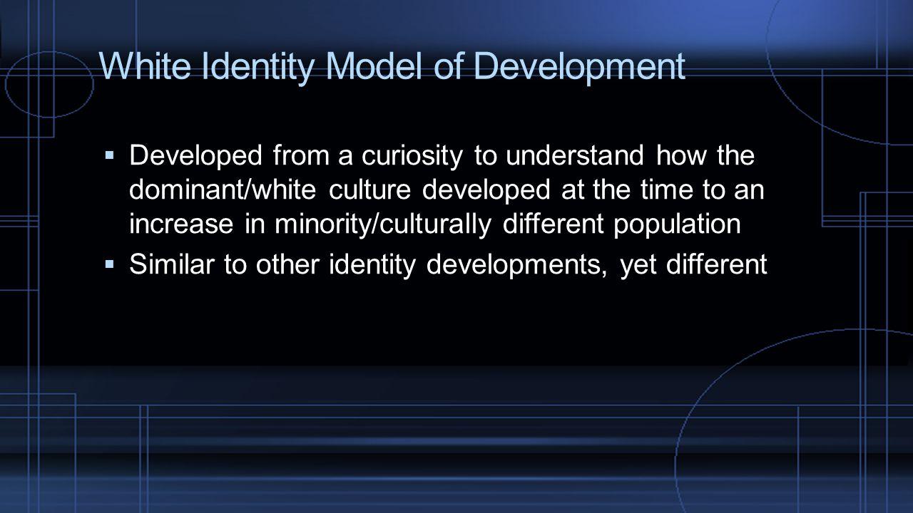 White Identity Model of Development