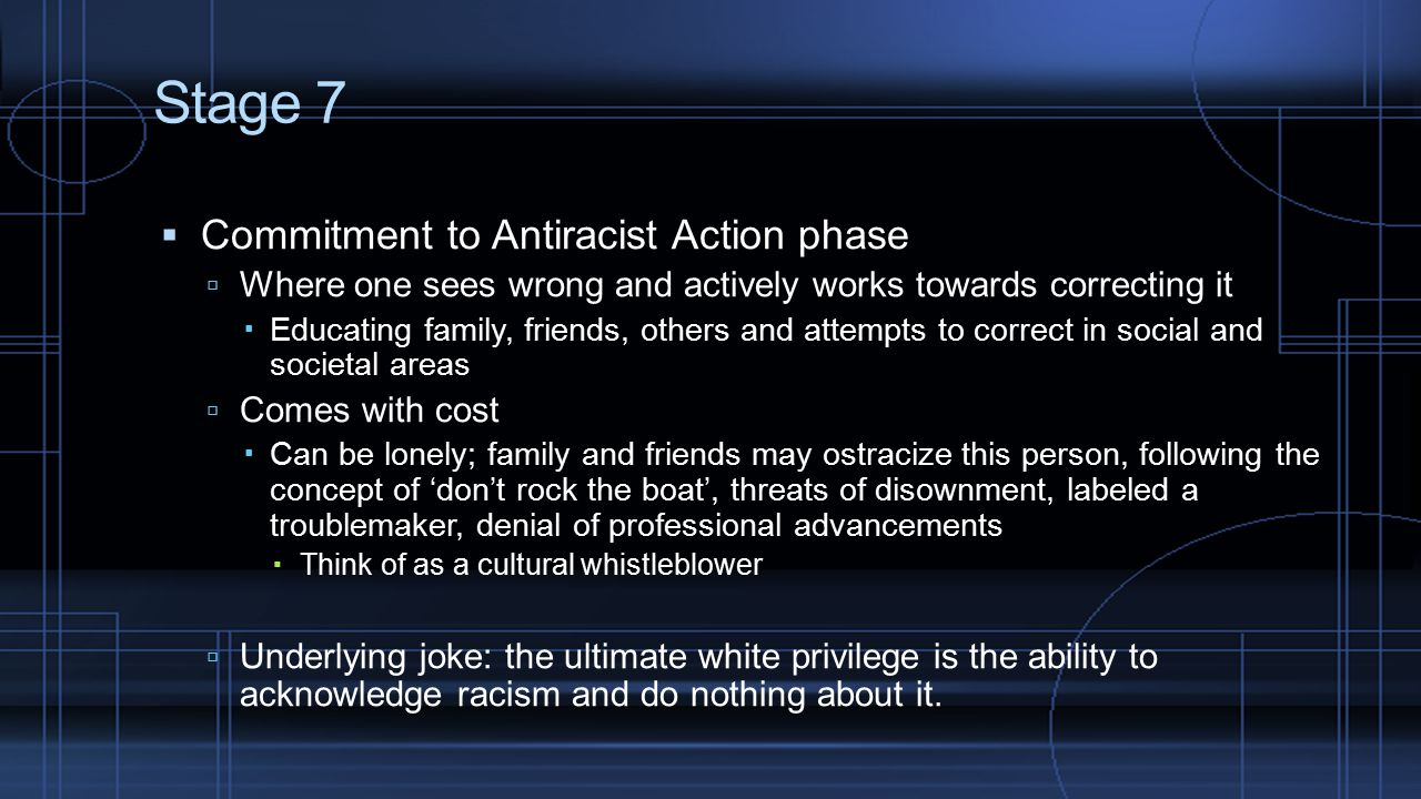 Stage 7 Commitment to Antiracist Action phase