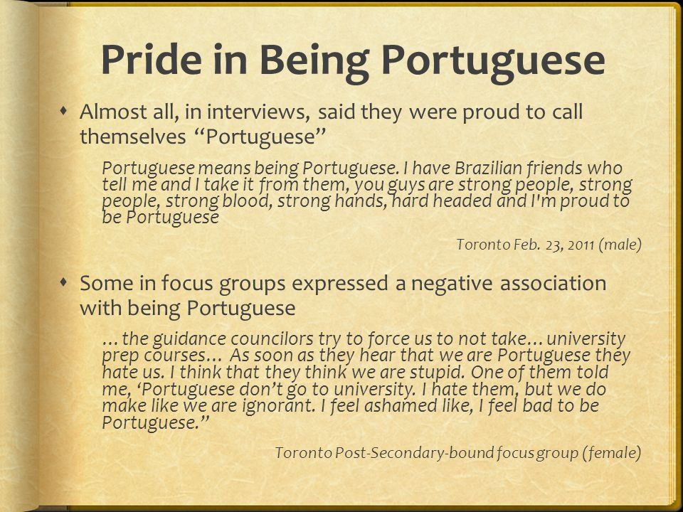 Pride in Being Portuguese