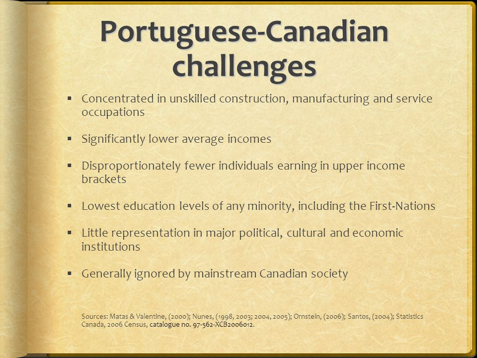 Portuguese-Canadian challenges