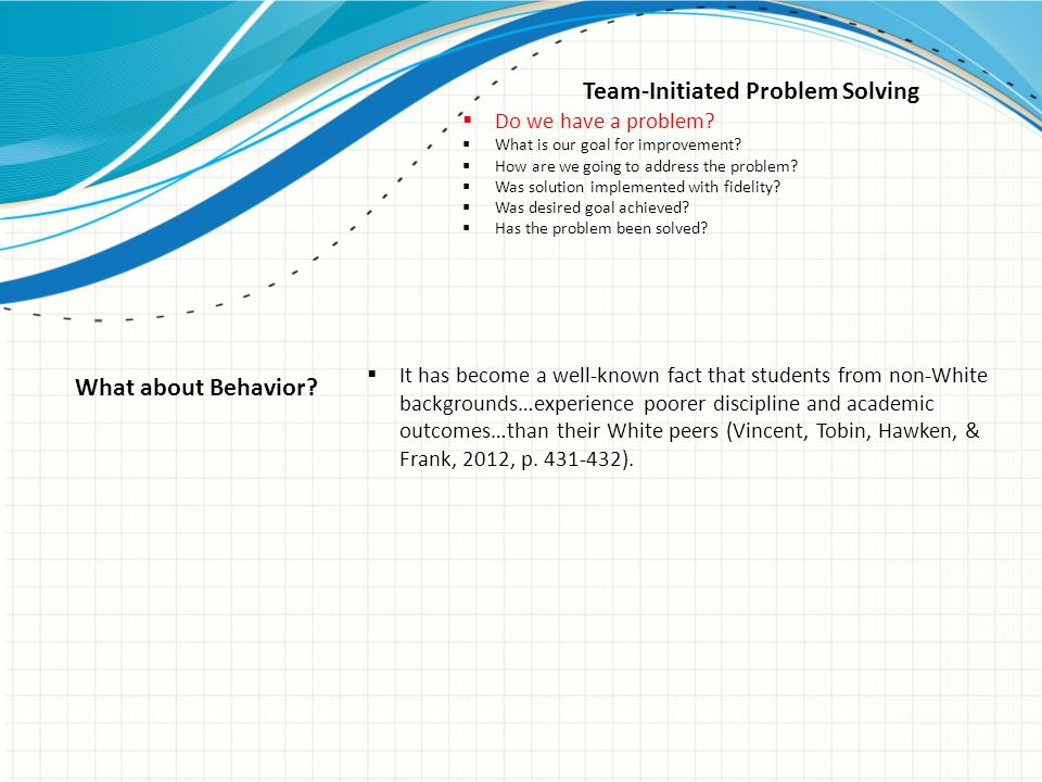 Team-Initiated Problem Solving