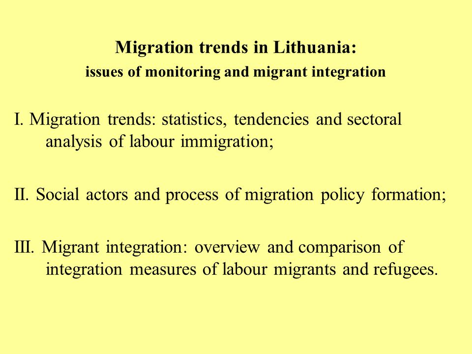 Migration trends in Lithuania: