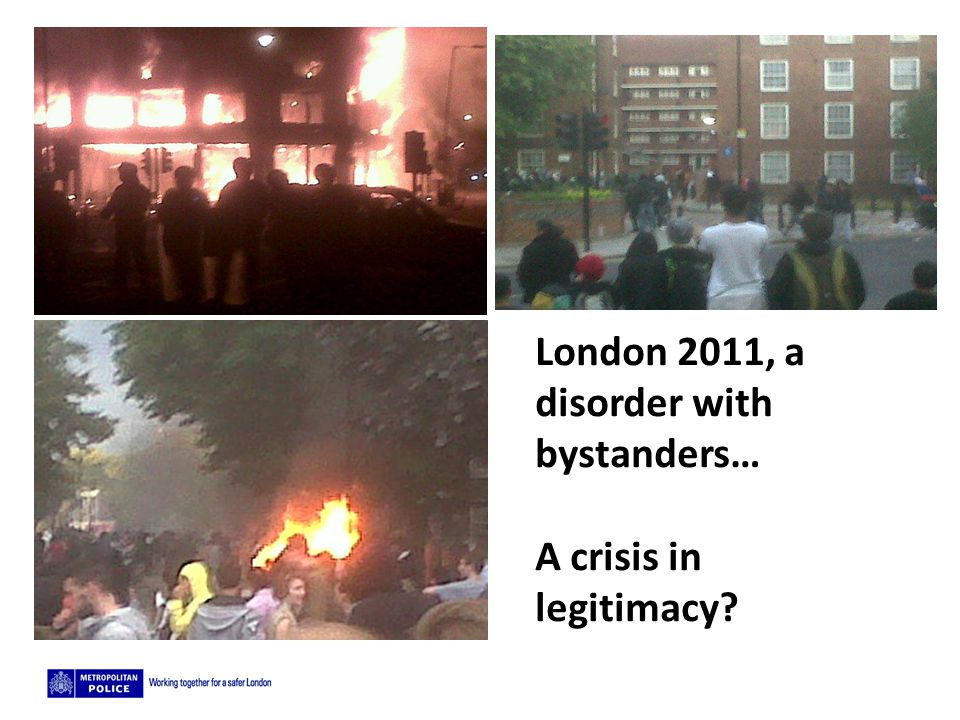 London 2011, a disorder with bystanders…