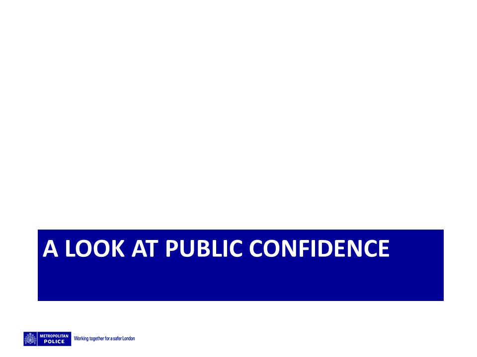 A look at public confidence