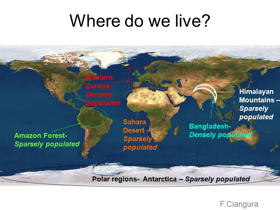 Where do we live F.Ciangura Western Europe- Densely populated