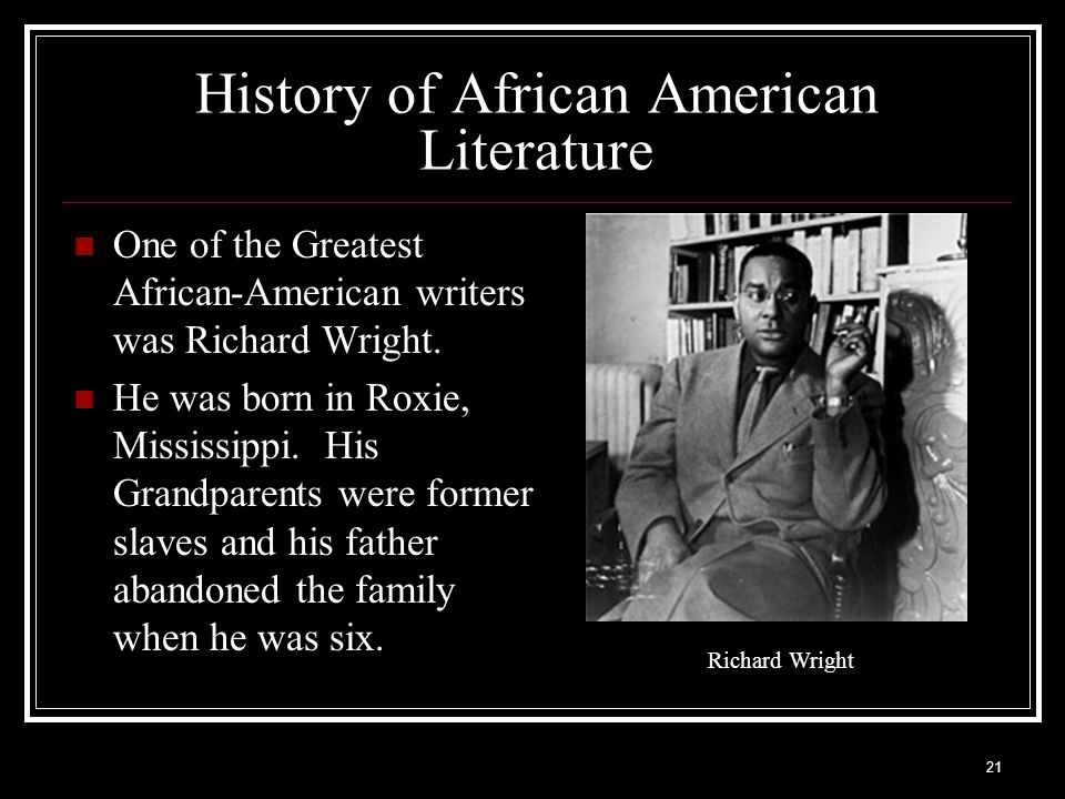 History of African American Literature