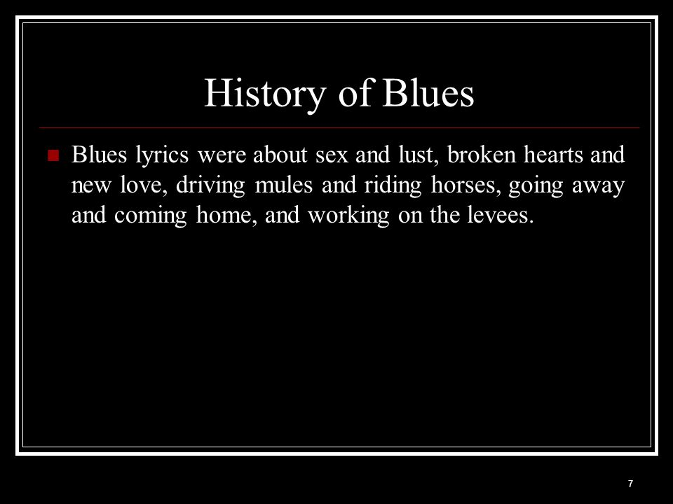 History of Blues