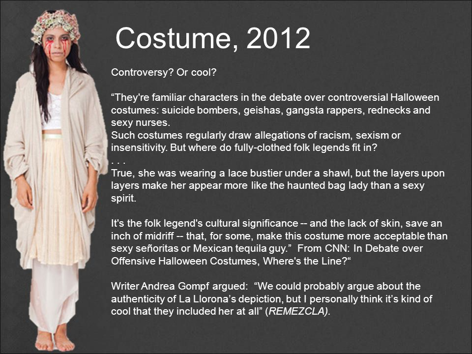 Costume, 2012 Controversy Or cool