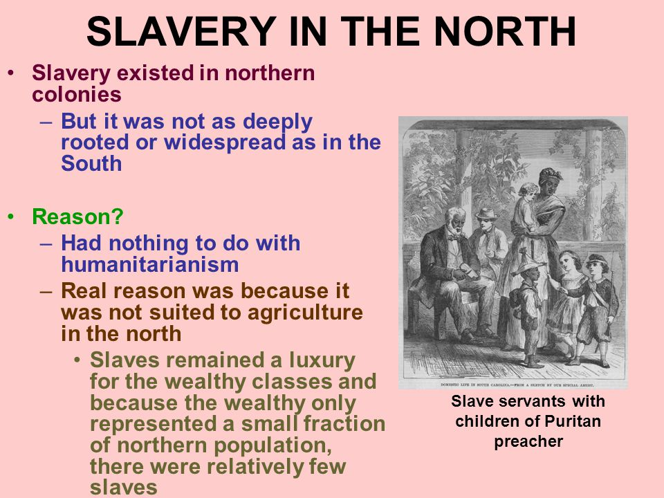 Slave servants with children of Puritan preacher